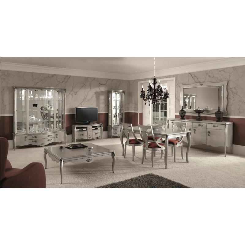 Mueble De Tv Retro Color Plata Muambi