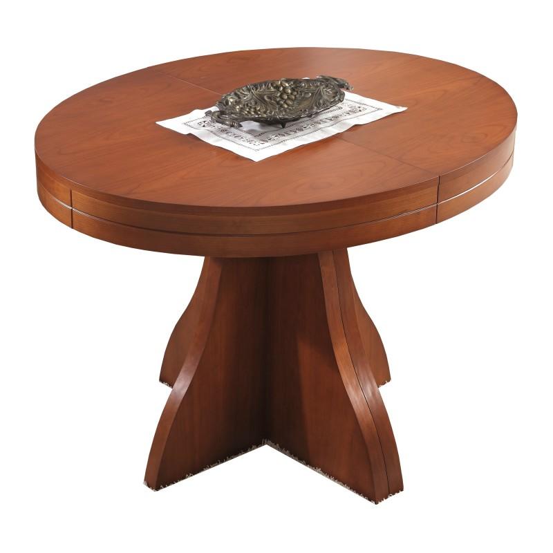 Mesa de comedor extensible moderna color cerezo muambi for Mesa extensible moderna