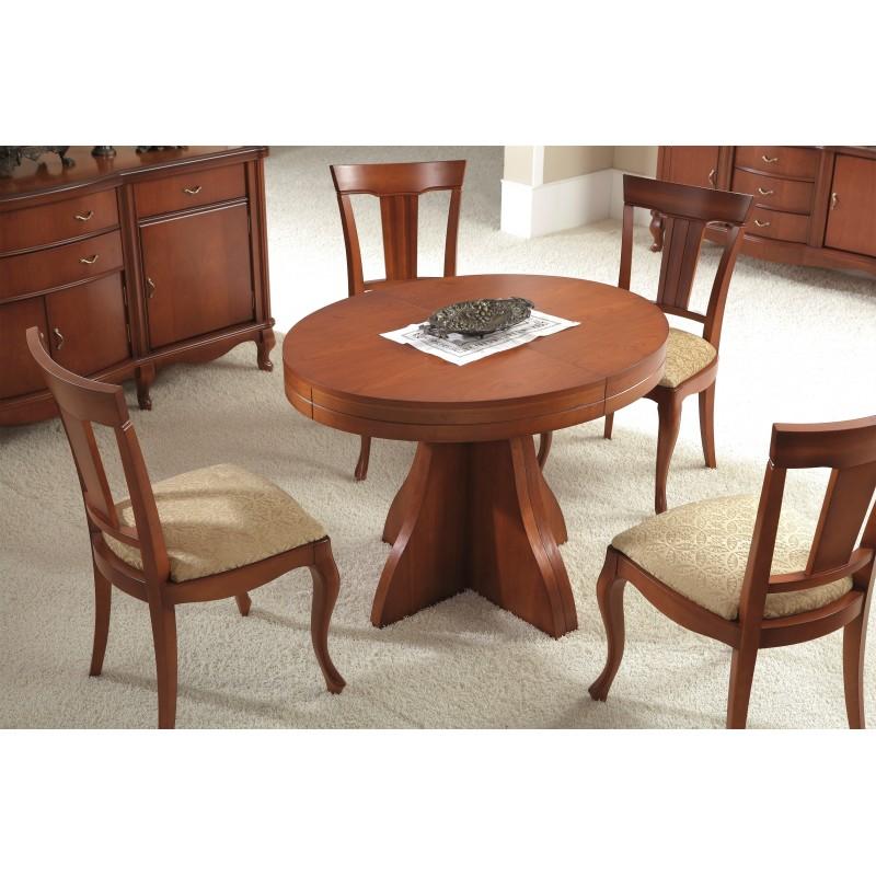 Mesa de comedor extensible moderna color cerezo muambi - Mesa comedor moderna ...