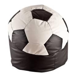Puff sillón balón de fútbol, tapizado: ecopiel