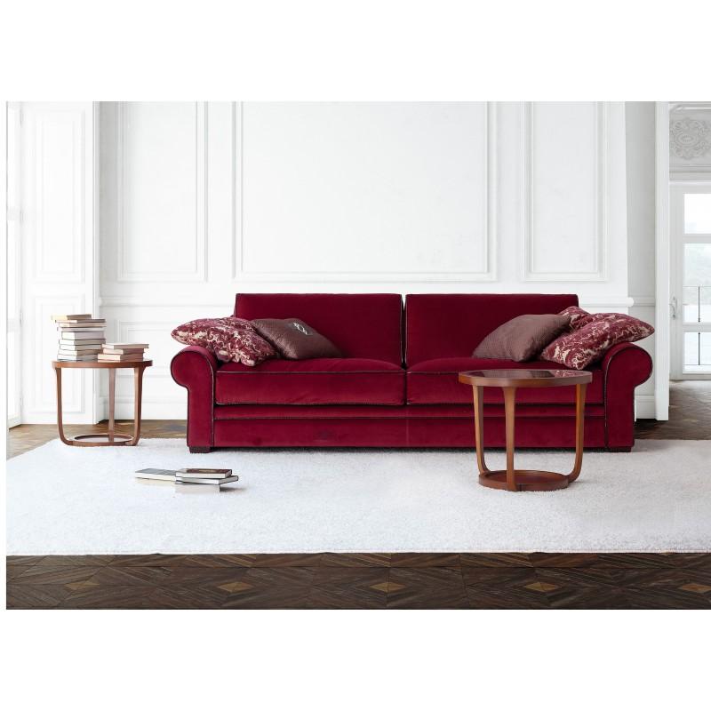 Sof 3 plazas moderno exclusivo tapizado rojo muambi for Sofa tapizado moderno