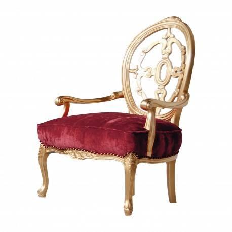 Sillón de lujo exclusivo clásico, color: rojo