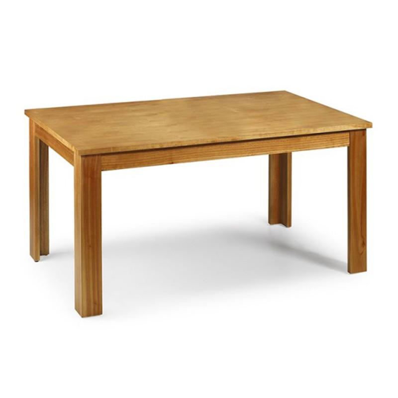 Mesa de comedor extensible natural material madera de for Mesas de salon extensibles de madera