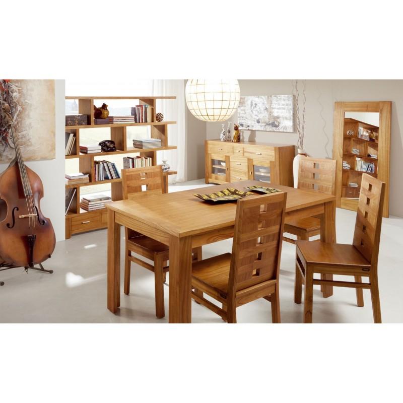 Mesa de comedor extensible natural material madera de - Mesas comedor madera natural ...