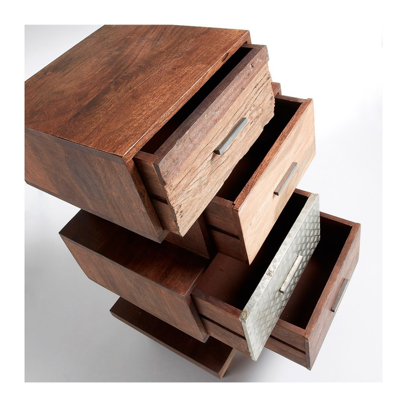 cmoda retro con cajones madera y metal
