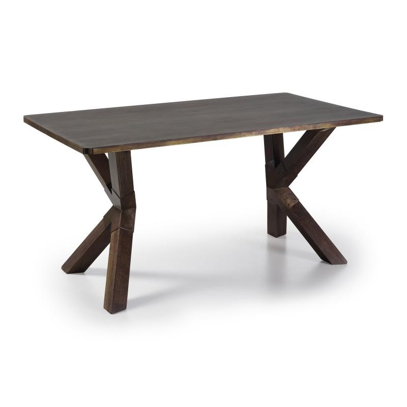 Mesa de comedor vintage industrial color wengu - Mesas color wengue ...