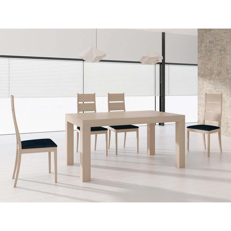 Mesa de comedor extensible contemporánea, color roble claro  Muambi