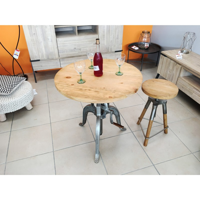 Mesas redondas vintage mesa redonda madera vintage mesa for Comedor redondo vintage