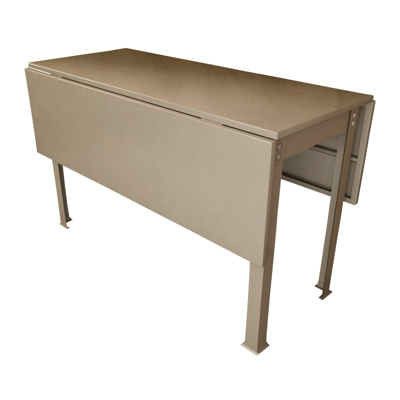 Mesa de metal abatible estilo industrial color titanio - Mesas con alas abatibles ...