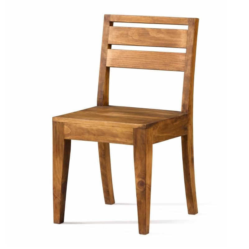 silla de comedor rstica moderna acabado teido y encerado