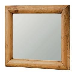 Espejo rústico, acabado: teñido y encerado