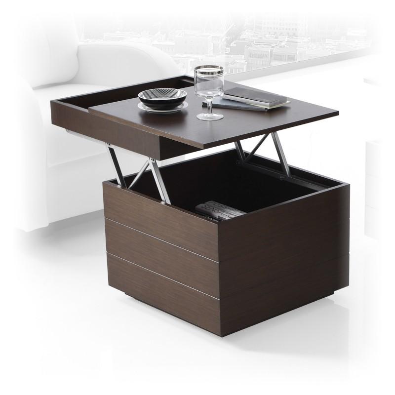 Mesa de centro moderna cubo elevable y extraible muambi - Mesas de centro abatibles ...