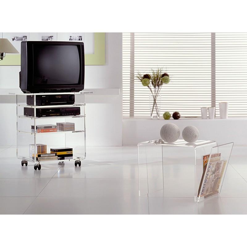 Mesa de rinc n con revistero minimalista acabado - Mesas de rincon ...