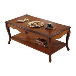 Mesa de centro clásico, color: cerezo