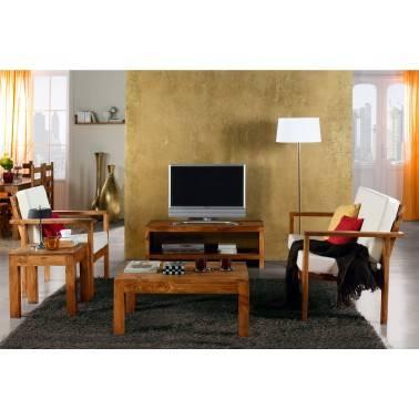 Mueble TV rústico, acabado: teñido y encerada
