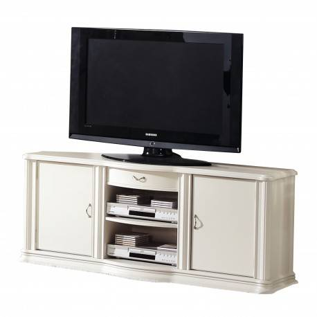 Mueble tv retro, color: beige