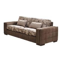 Sofá 2 plazas exótico, color: marrón