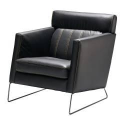 Sillón retro tapizado, color: negro