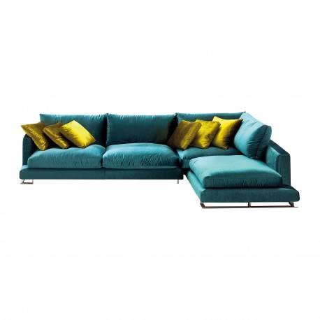 Sofá chaise longue pop art, color: verde