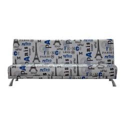 Sofá cama pop art, tapizado Paris