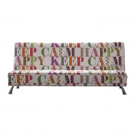 Sofá cama pop art, tapizado Happy