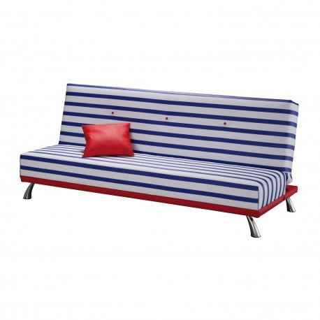 Sofá cama pop art, tapizado Marinero