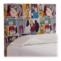 Cabezal matrimonio pop art, tapizado: manga