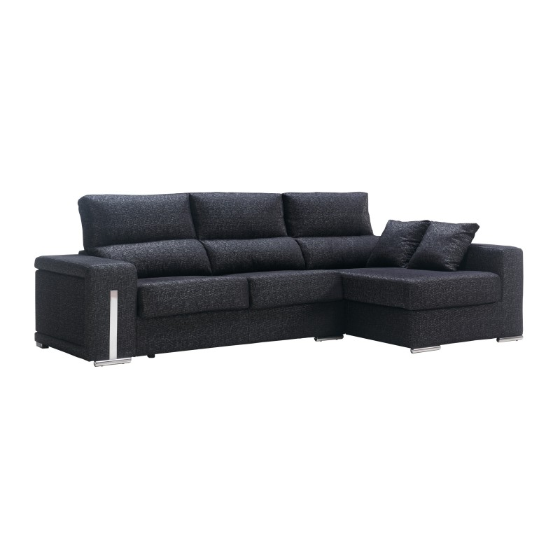 Sofa chaise longue moderno color negro muambi - Chaise longue modernos ...
