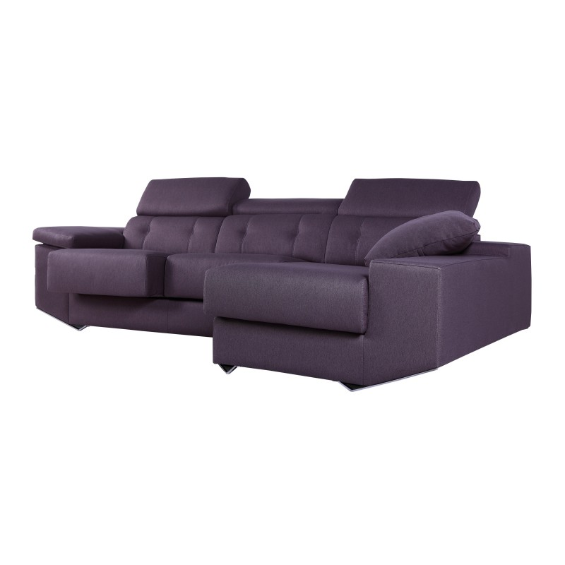 Sof chaise longue moderno color malva muambi - Chaise longue modernos ...