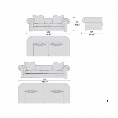 Sofá chester 3 plazas moderno exclusivo, tapizado: marrón