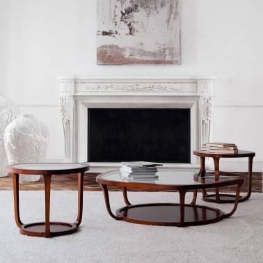 Mesa de centro moderna exclusiva, color: cerezo