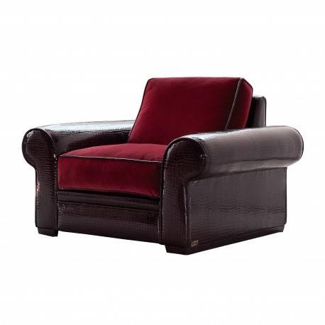 Sillón moderno exclusivo, tapizado: rojo