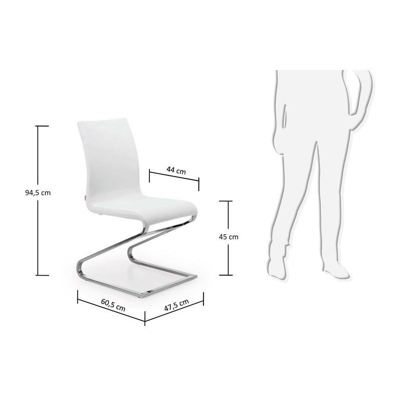 Silla de comedor minimalista pata met lica tapizado for Tapizados de sillas modernas