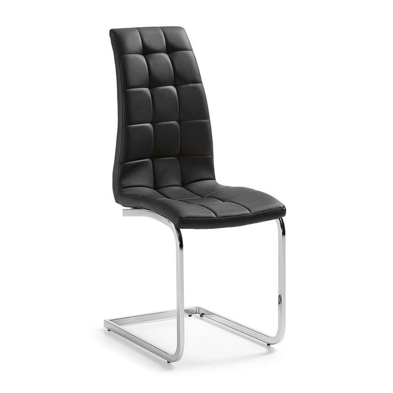 Silla comedor minimalista tapizado cuadrados piel - Tapizado de sillas de comedor ...