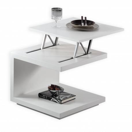 Mesa de centro ó rincón elevable minimalista.