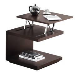 Mesa de centro ó rincón elevable minimalista, color: wengue