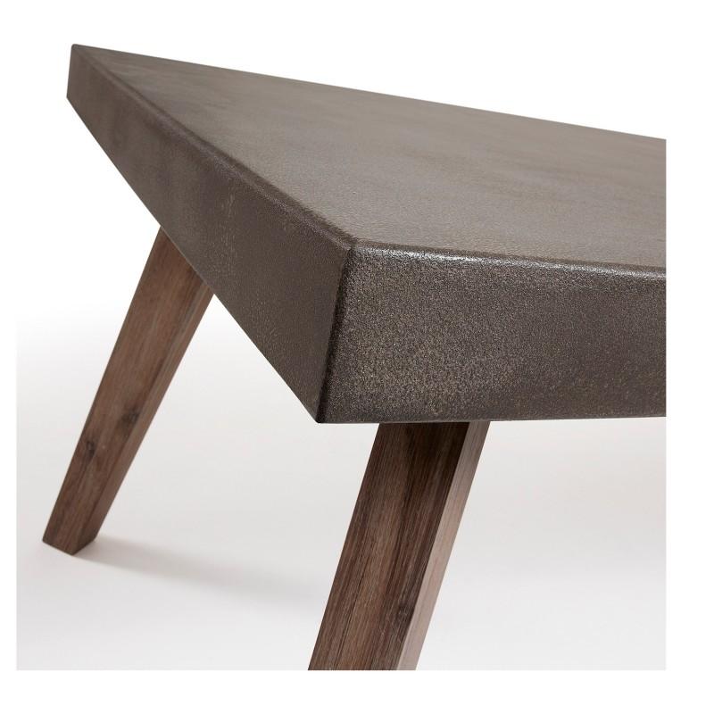Mesa de comedor madera maciza color gris muambi - Mesa comedor madera maciza ...