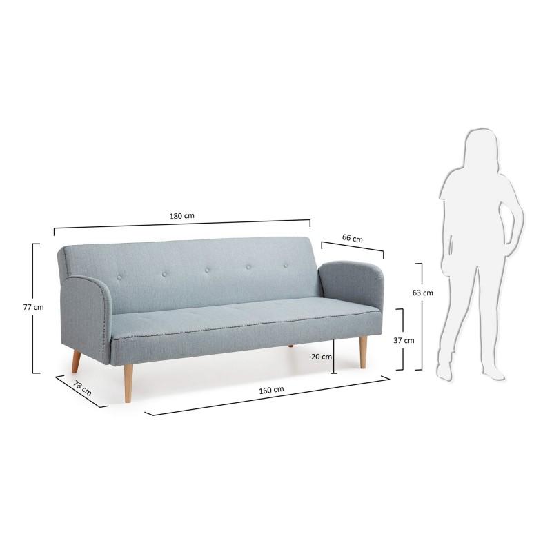 Sof cama n rdico 2 plazas color opcional gris marr n for Sofa cama 2 plazas oferta