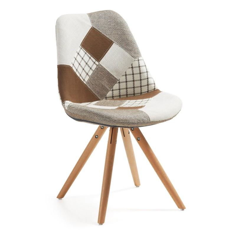 silla de comedor moderna tapizado patchwork muambi