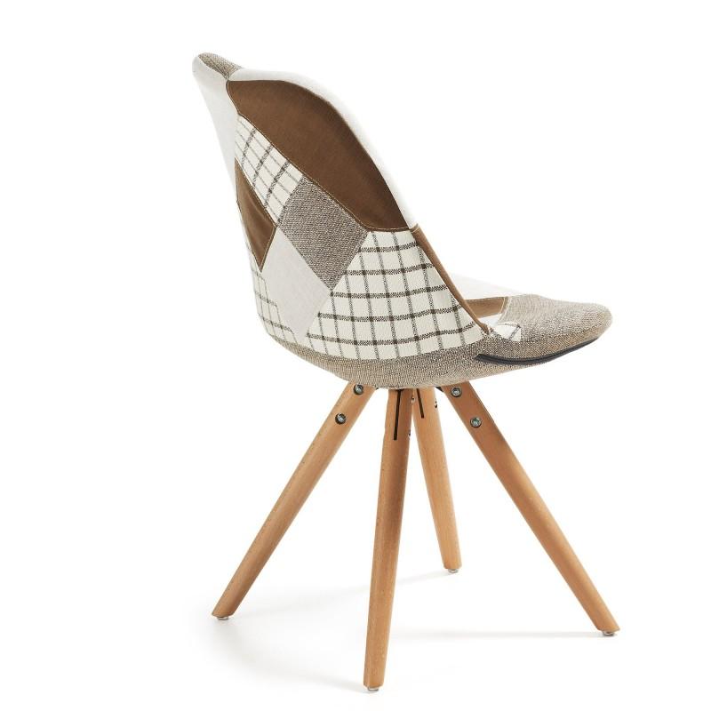 Silla de comedor moderna tapizado patchwork muambi - Tapizado de sillas de comedor ...