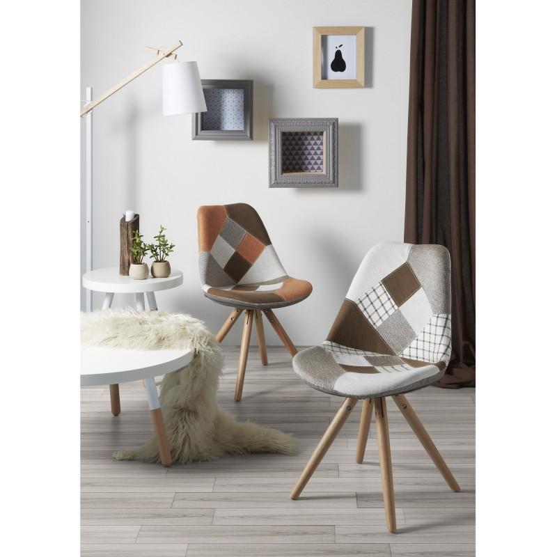 Silla de comedor moderna tapizado patchwork muambi for Tapizados de sillas modernas