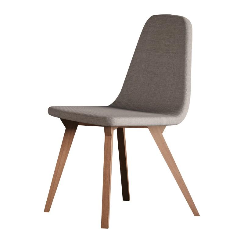 Silla de comedor contemporanea 85x52x44 cm color haya - Muebles sillas comedor modernas ...