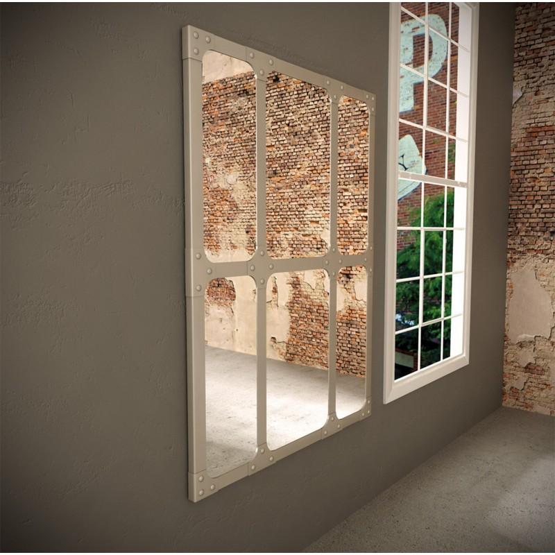 Espejo industrial 110x150 dise o cuadros color titanio for Espejo estilo industrial