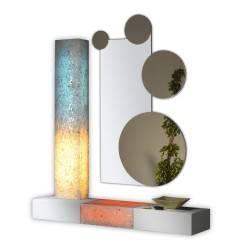Recibidor moderno con espejo, color: blanco