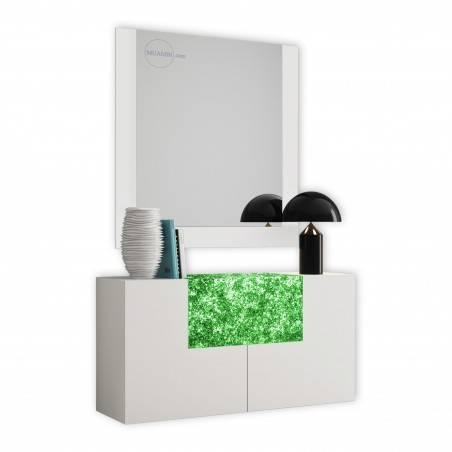 Recibidor moderno con espejo, color: 138 opciones